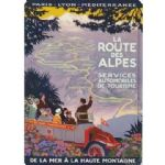 French Routes des Alpes Car Coach Tour Vintage Metal Steel Sign Plaque Gift